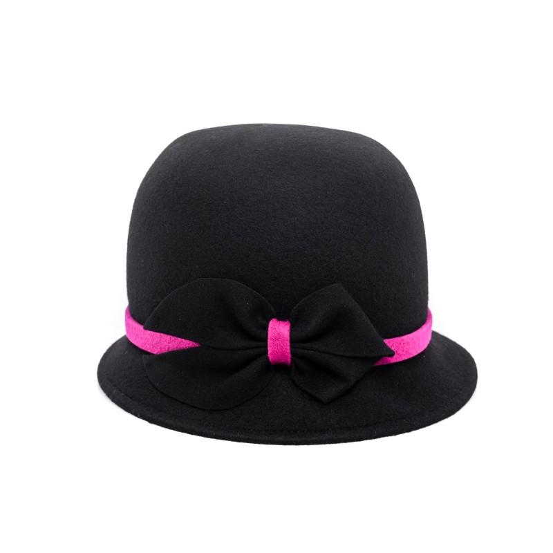 111b463ee GALLO - Felt Cloche Hat - Black
