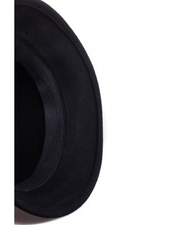 GALLO - Felt Cloche Hat - Black