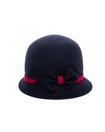 GALLO - Felt Cloche Hat - Royal