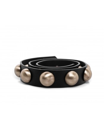 PHILOSOPHY DI LORENZO SERAFINI - Leather belt with studs - Black/gold