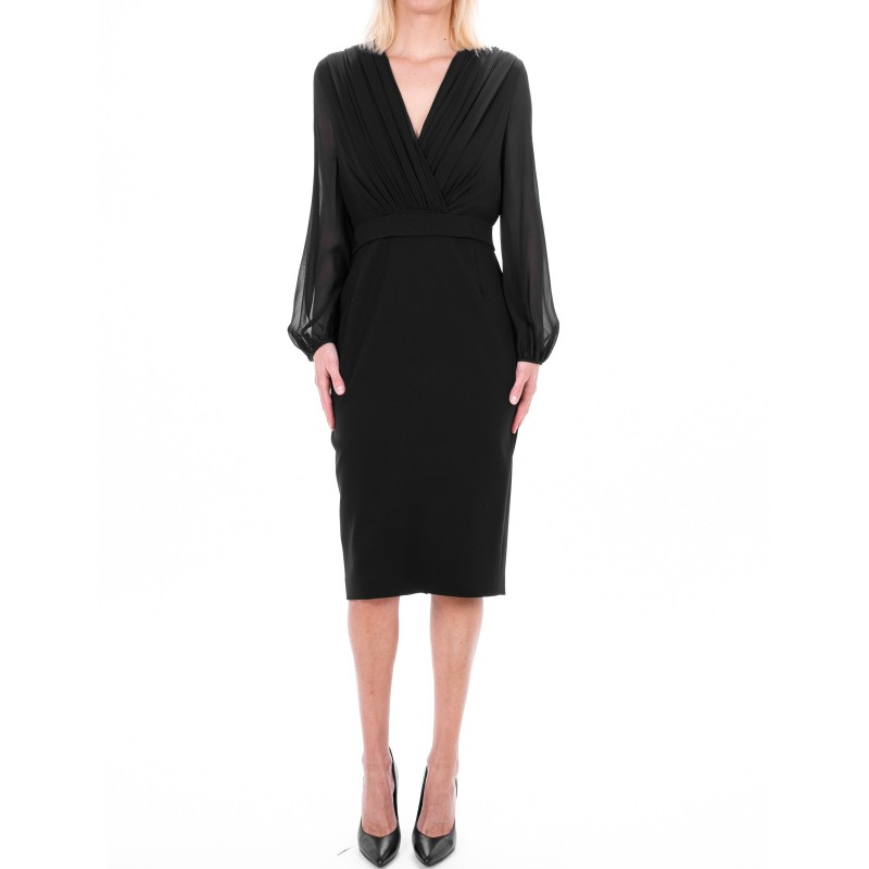 MAX MARA STUDIO -  JUANITA dress in georgette  - Black