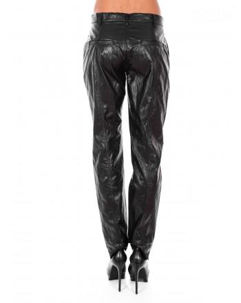 PHILOSOPHY di LORENZO SERAFINI  - Ecoleather Two Pockets Trousers - Black
