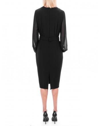 MAX MARA STUDIO -  JUANITA dress in georgette  - Black