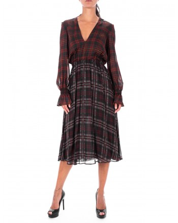 PHILOSOPHY - Tartan printed Dress - Squares