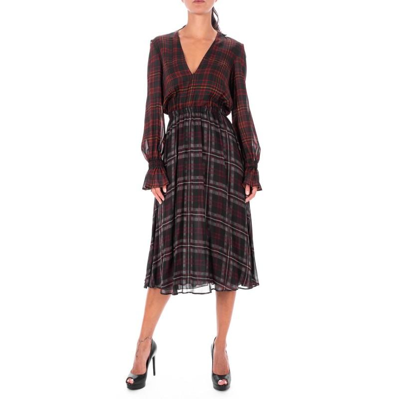 PHILOSOPHY - Tartan printed Dress - Squares