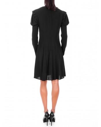 PHILOSOPHY di LORENZO SERAFINI  - V Neckline Viscose Dress - Black