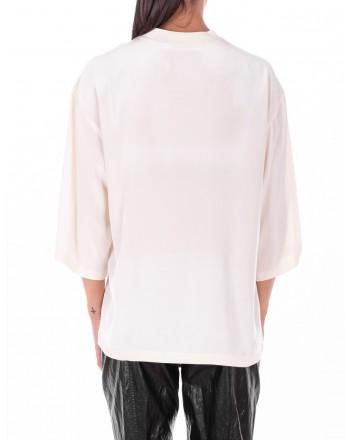 PHILOSOPHY di LORENZO SERAFINI  -  Camicia con logo frontale - Bianco Avorio