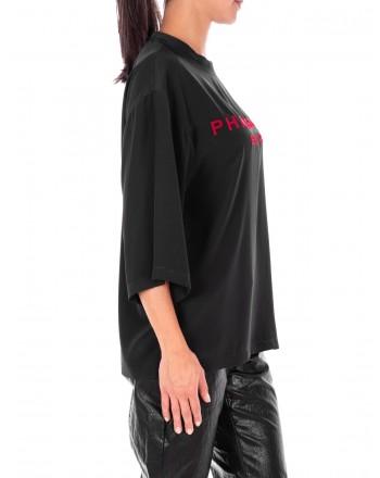 PHILOSOPHY di LORENZO SERAFINI  -  Front Logo Shirt  - Black