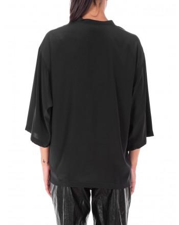 PHILOSOPHY di LORENZO SERAFINI  -  Camicia con logo frontale - Nero