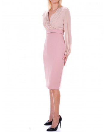 MAX MARA STUDIO -  JUANITA dress in georgette  - Pink