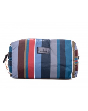 GALLO - Trousse a fantasia righe - Blu/Denim