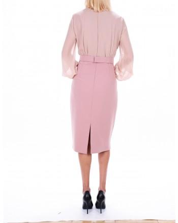 MAX MARA STUDIO -  JUANITA dress in georgette  - Pink
