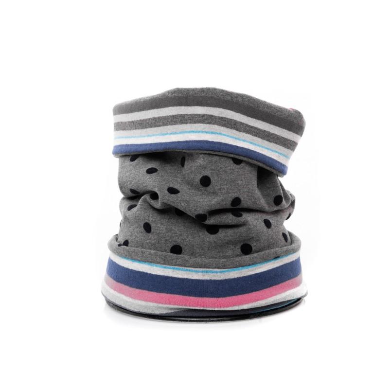 GALLO - Collo in lana reversibile - Cenere/Blu