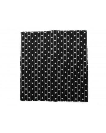 GALLO - Wool Polka dots Neck Scarf - Black