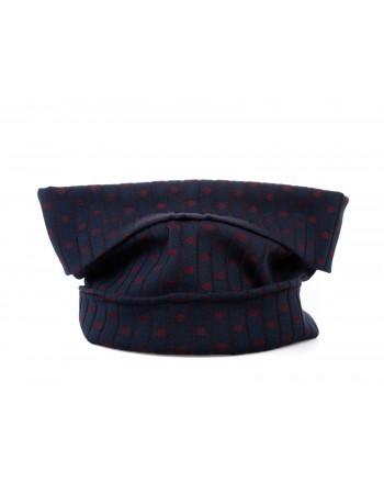 GALLO - Polka dots Wool Neck Scarf - Ultramarine Blue