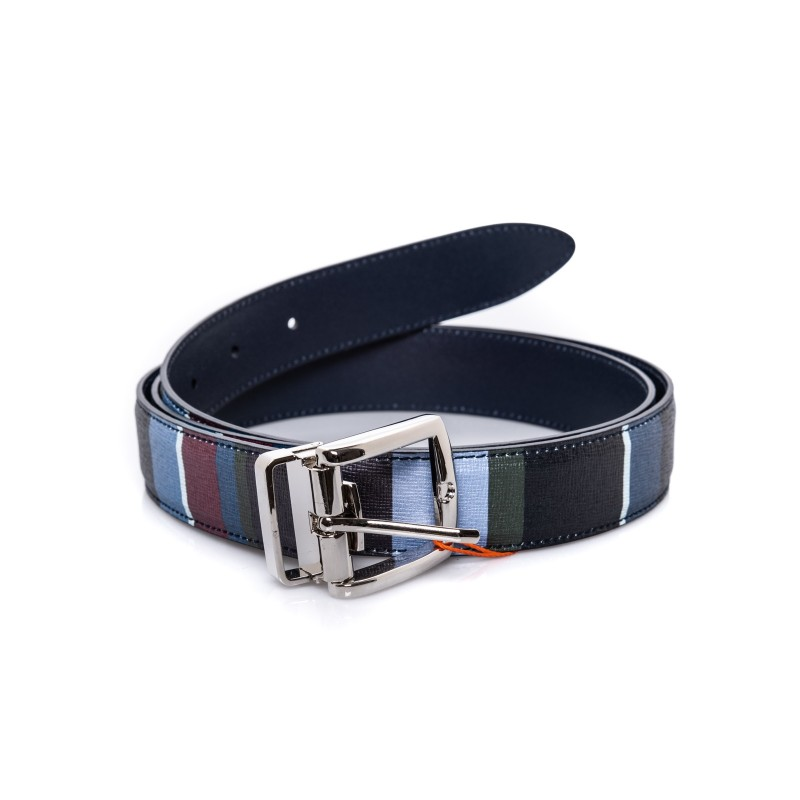 GALLO  - Leather Belt - - Blue/Denim