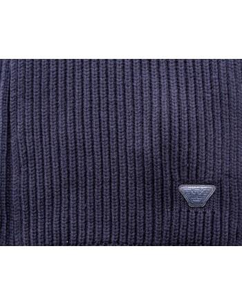 EMPORIO ARMANI - Wool scarf - Blue