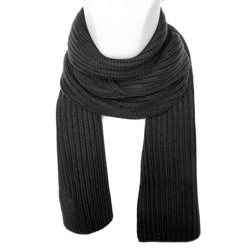 EMPORIO ARMANI - Wool scarf - Black