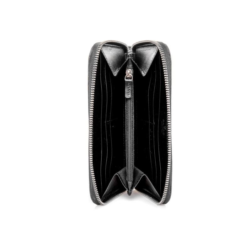 GALLO - Saffiano Leather Wallet - Black/White
