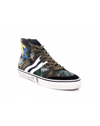 POLO RALPH LAUREN - Sneaker Solomon camouflage - Camouflage Oliva