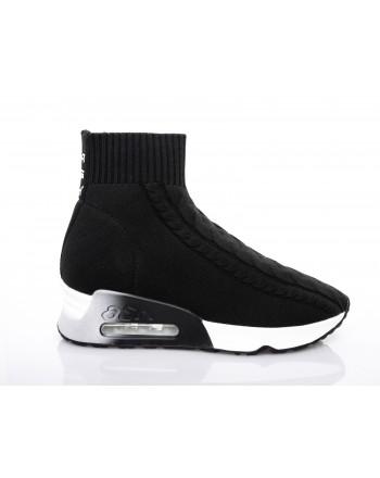 ASH - Sneakers LIVING alta in tessuto - Nero