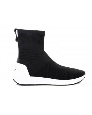 ASH - Sneakers JEFF alto in tessuto - Nero