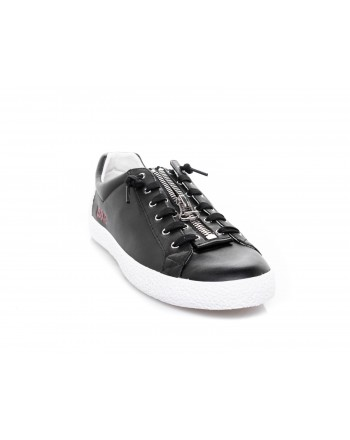 ASH - Sneakers in pelle con zip - Nero
