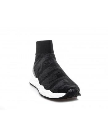 ASH - Sneakers alta in tessuto - Nero