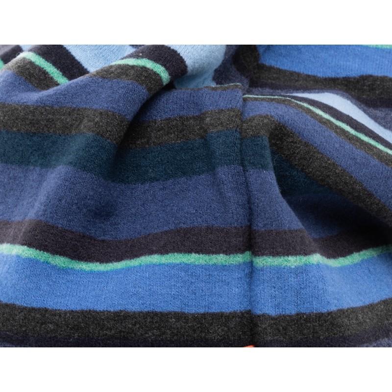 GALLO - Micro stripes pile beanie - Blue/Grey