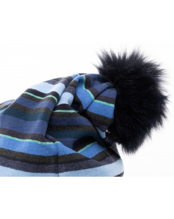 GALLO - Pom Pom Hat - Blue