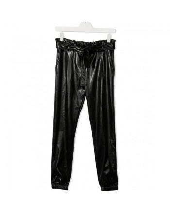 MSGM Baby- Pantalone ecopelle - NERO