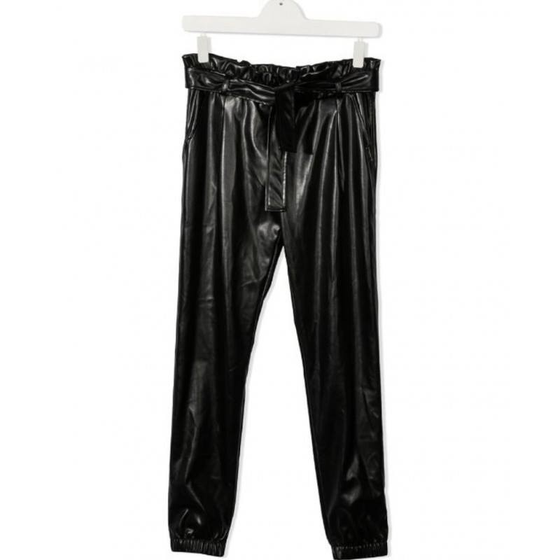 MSGM Baby - Eco-leather Trousers - Black