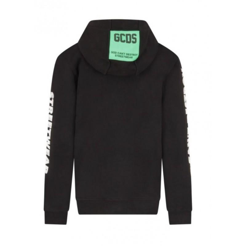 GCDS Mini - Rubber logoed Sweatshirt - BLACK