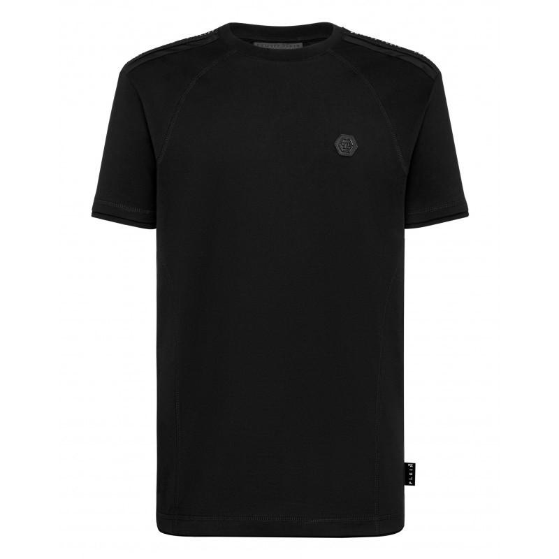 PHILIPP PLEIN - ISTITUTIONAL Cotton T-Shirt - Black
