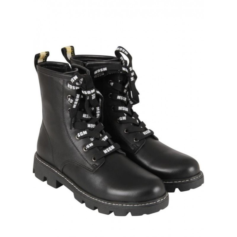 MSGM Baby - Logoed Boots - BLACK