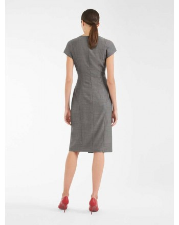 MAX MARA STUDIO - Wool and Silk Dress OSIMO - Black/White