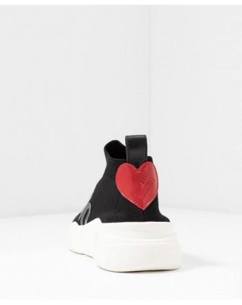 LOVE MOSCHINO - SOCKS Sneakers - BLACK