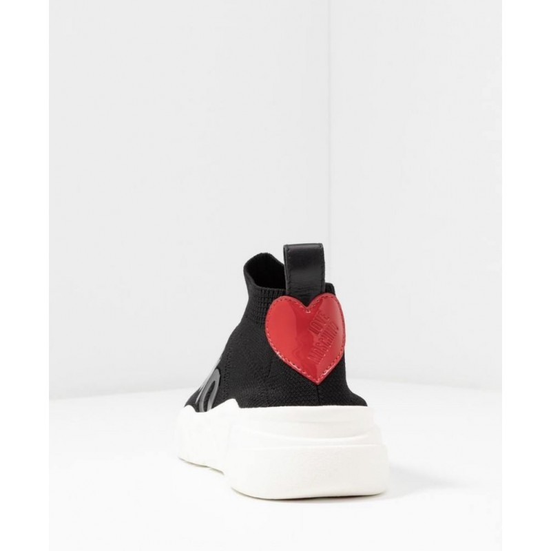 LOVE MOSCHINO - Sneakers SOCKS - NERO