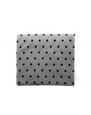 GALLO - Polka Dots Fleece Scarf - Grey/Blue