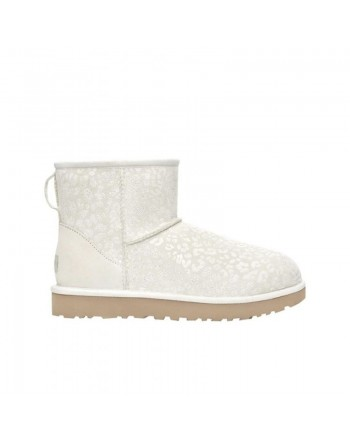 UGG - W SNOW LEOPARD Boots-  WHITE