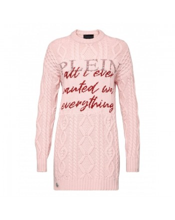 PHILIPP PLEIN - Knit Mini Dress LUCKY - Pink