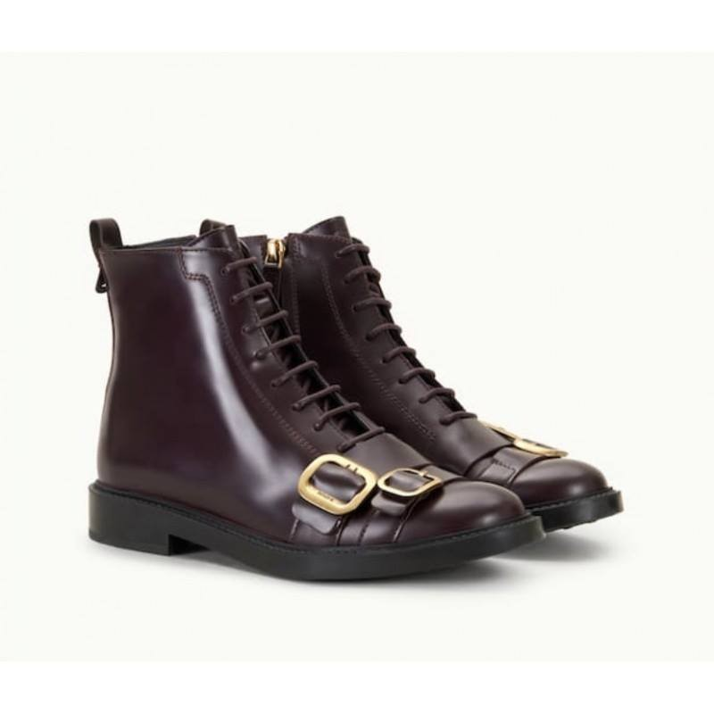 TOD'S - Leather Polacco - BORDEAUX