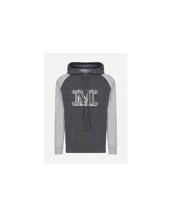 MAX MARA - LIEGI Cashmere Knit with Hood - Dark Grey/Grey