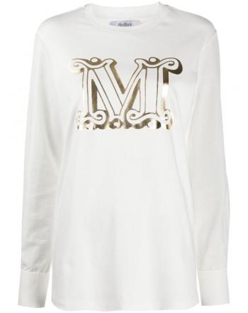 MAX MARA -  Cotton Jersey T-Shirt SIMEONE  - White