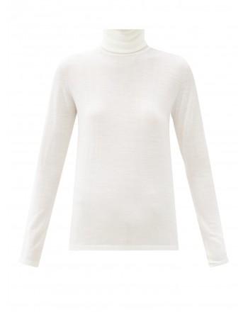 MAX MARA - Wool Turtleneck Knit SALUTO  - White