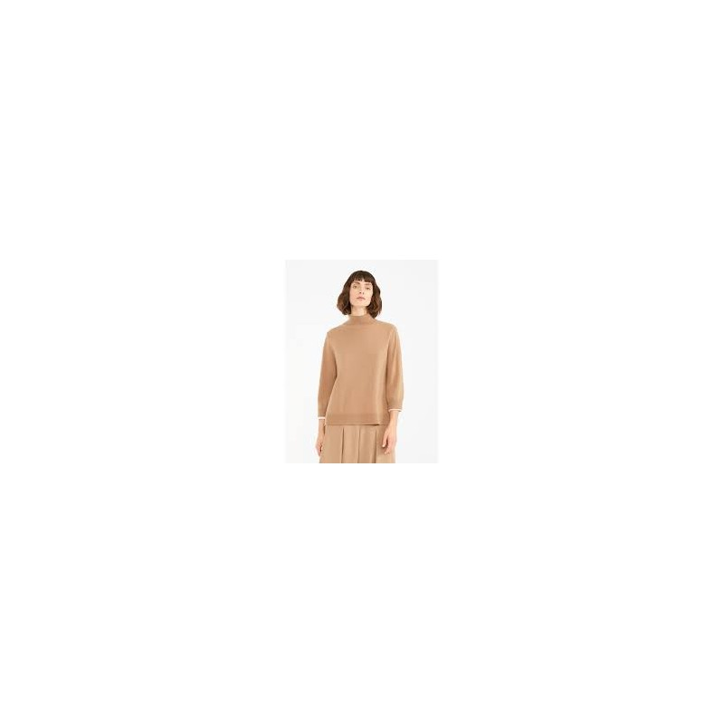 MAX MARA STUDIO - Wool and Cashmere Knit BERGER - Camel
