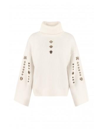PINKO - Wool Blended GUYANA Knit- White