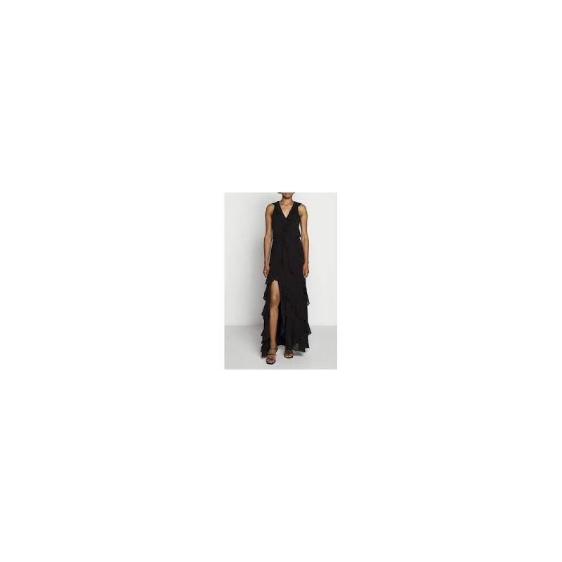 MICHAEL by MICHAEL KORS - Maxi RUFFLE Dress - BLACK
