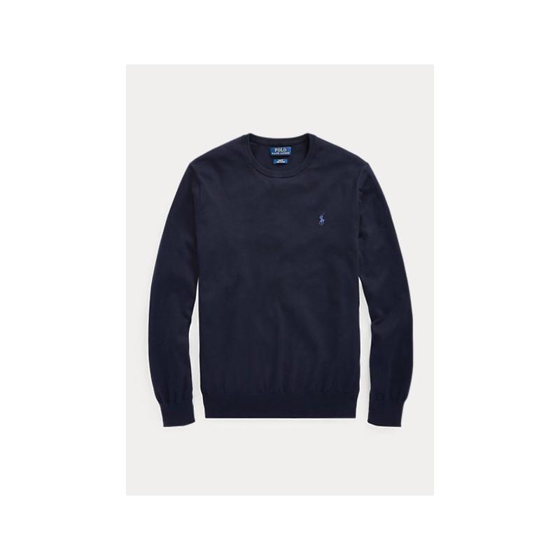 Polo Ralph Lauren - Maglia In Cotone Slim - Blu