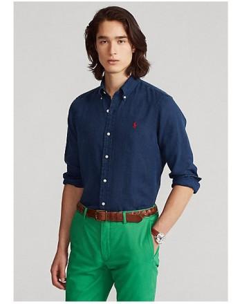 Polo Ralph Lauren - Camicia - Lino - Slim Fit - B.d. - Blu